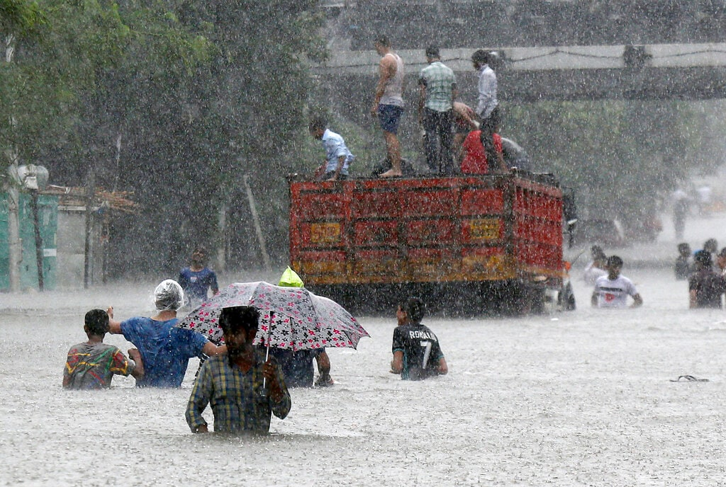 4: Vadodara, one of the biggest city in India came next as it received 92 mm rainfall. (Representational Image: AP Photo/Rajanish Kakade)