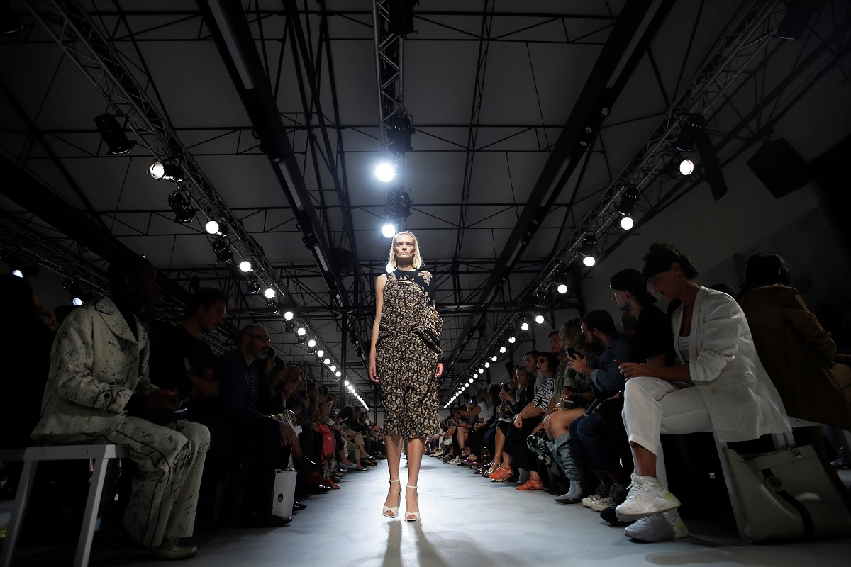 Alessandro Dell'Acqua presented a co-ed No. 21 collection for the first time, blurring gender lines with an interplay of florals that created surprisingly androgynous looks. (AP Photo/Luca Bruno)