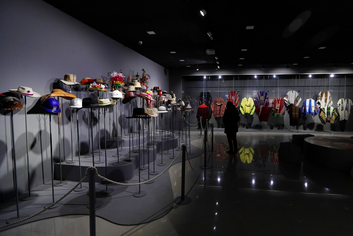 This photo shows hats and ponchos Bolivia's President Evo Morales received as gifts, at the Democratic and Cultural Revolution Museum, in Orinoca, Bolivia. Hundreds of gifts to Morales during his travels around the globe were donated to the museum. (AP Photo/Juan Karita)