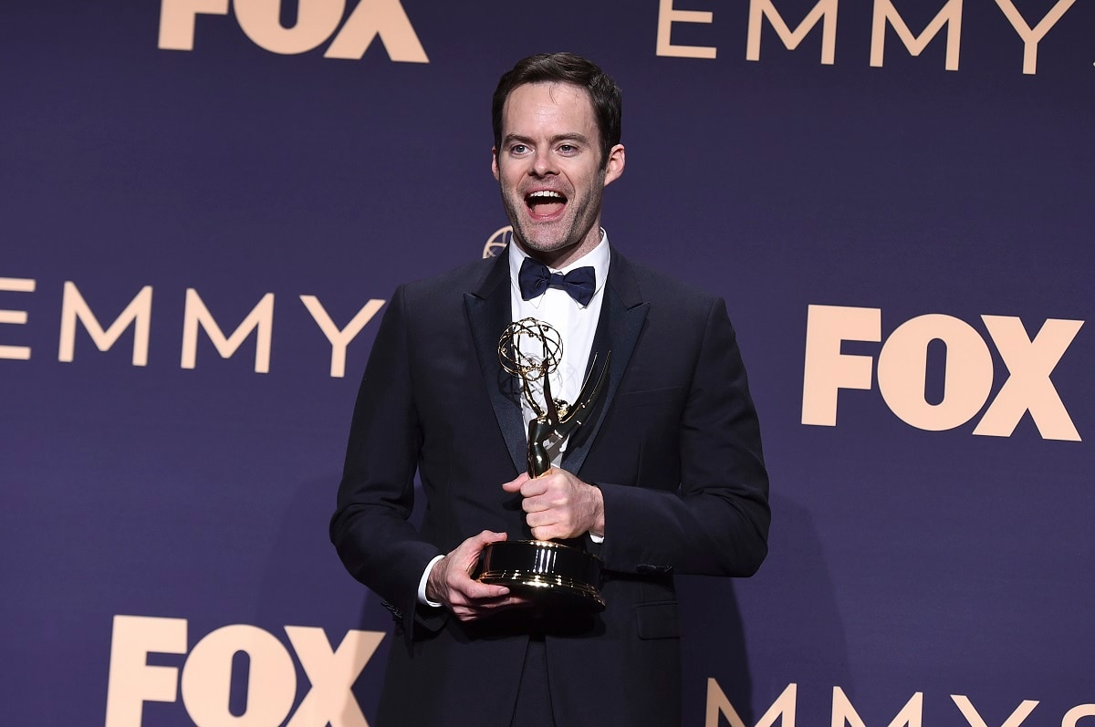 Bill Hader poses in the press room with the award for 'Outstanding Lead Actor in a Comedy Series' for 'Barry' at the 71st Primetime Emmy Awards. (Photo by Jordan Strauss/Invision/AP)