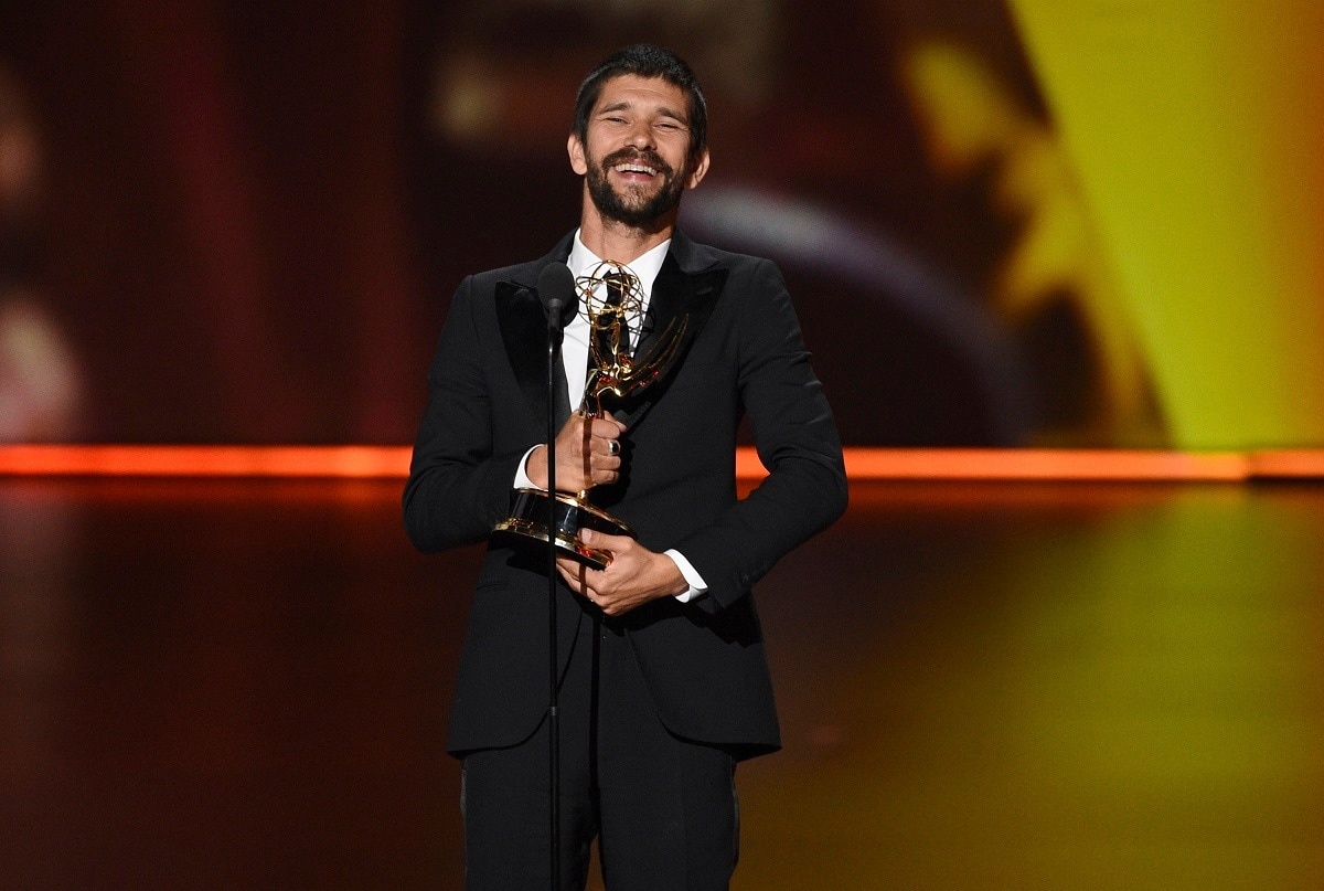 Ben Whishaw accepts the award for 'Outstanding Supporting Actor in a Limited Series or Movie' for 'A Very English Scandal' at the 71st Primetime Emmy Awards. (Photo by Chris Pizzello/Invision/AP)