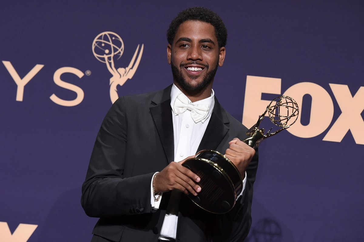 Jharrel Jerome, winner of the award for 'Outstanding Lead Actor in a Limited Series or Movie' for 'When They See Us', poses in the press room at the 71st Primetime Emmy Awards. (Photo by Jordan Strauss/Invision/AP)