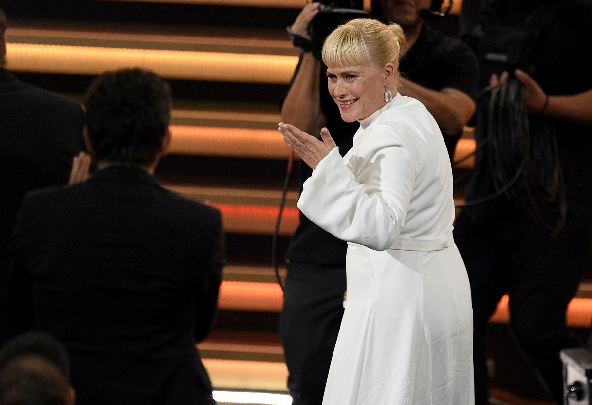 Patricia Arquette is seen in the audience before accepting the award for 'Outstanding Supporting Actress in a Limited Series or Movie' for 'The Act' at the 71st Primetime Emmy Awards. (Photo by Chris Pizzello/Invision/AP)