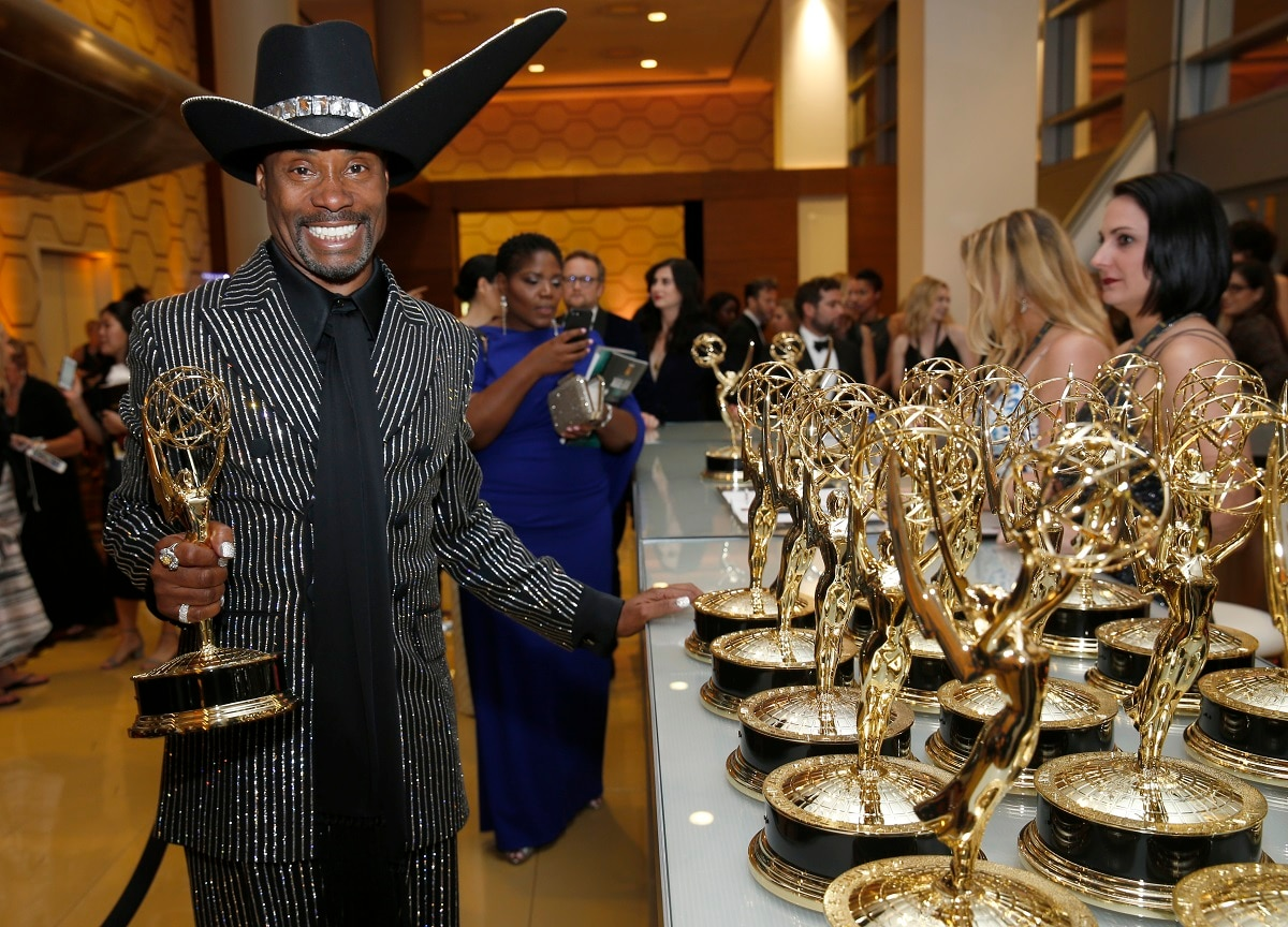 Billy Porter receives the award for 'Outstanding Lead Actor in a Drama Series' for 'Pose' at the 71st Primetime Emmy Awards on Sunday at the Microsoft Theater in Los Angeles. (Photo by Eric Jamison/Invision for the Television Academy/AP Images)