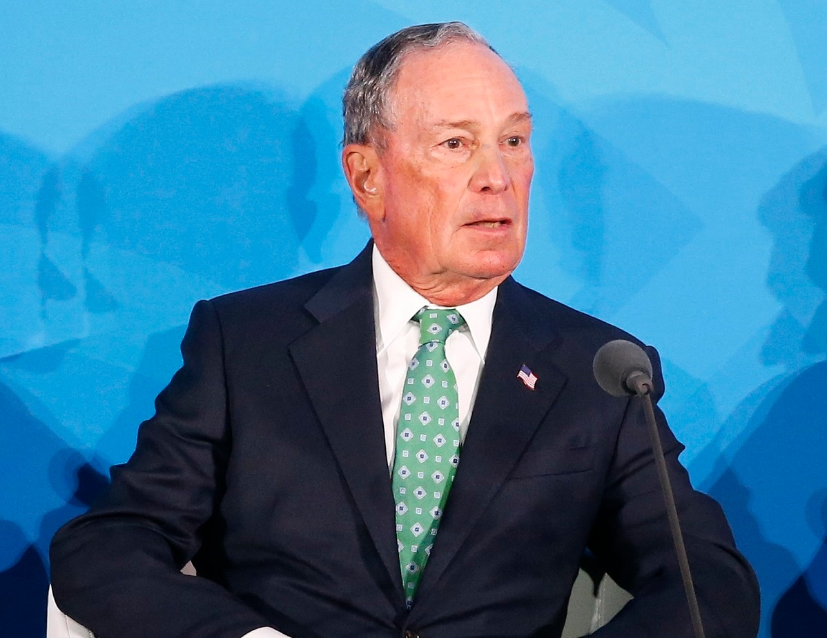 Special Envoy for Climate Action Michael Bloomberg addresses the Climate Action Summit in the United Nations General Assembly, at UN headquarters. (AP Photo/Jason DeCrow)