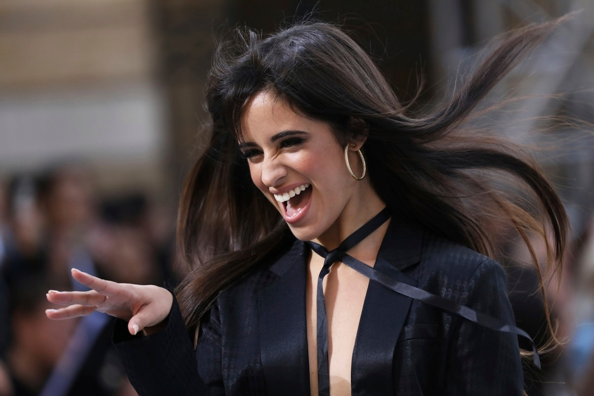 Singer Camila Cabello wears a creation as part of the L'Oreal Ready To Wear Spring-Summer 2020 collection. (Photo by Vianney Le Caer/Invision/AP)