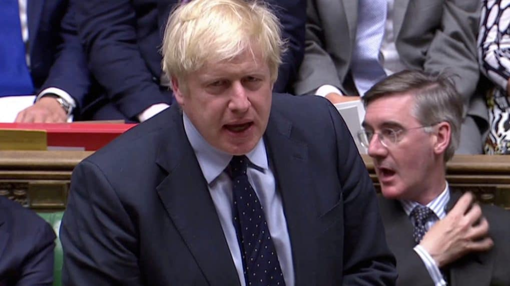 Opponents of 'no-deal' Brexit defeat PM Boris Johnson, who promises an election