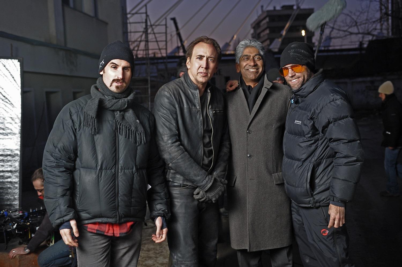 - Ghost Rider Set: (L to R) Mark Neveldine, Nicolas Cage, Ashok Amritraj, and Brian Taylor.