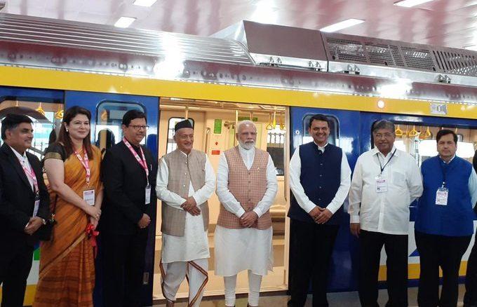 Under Make In India initiative, Narendra Modi unveils indigenously-built coach for Mumbai Metro