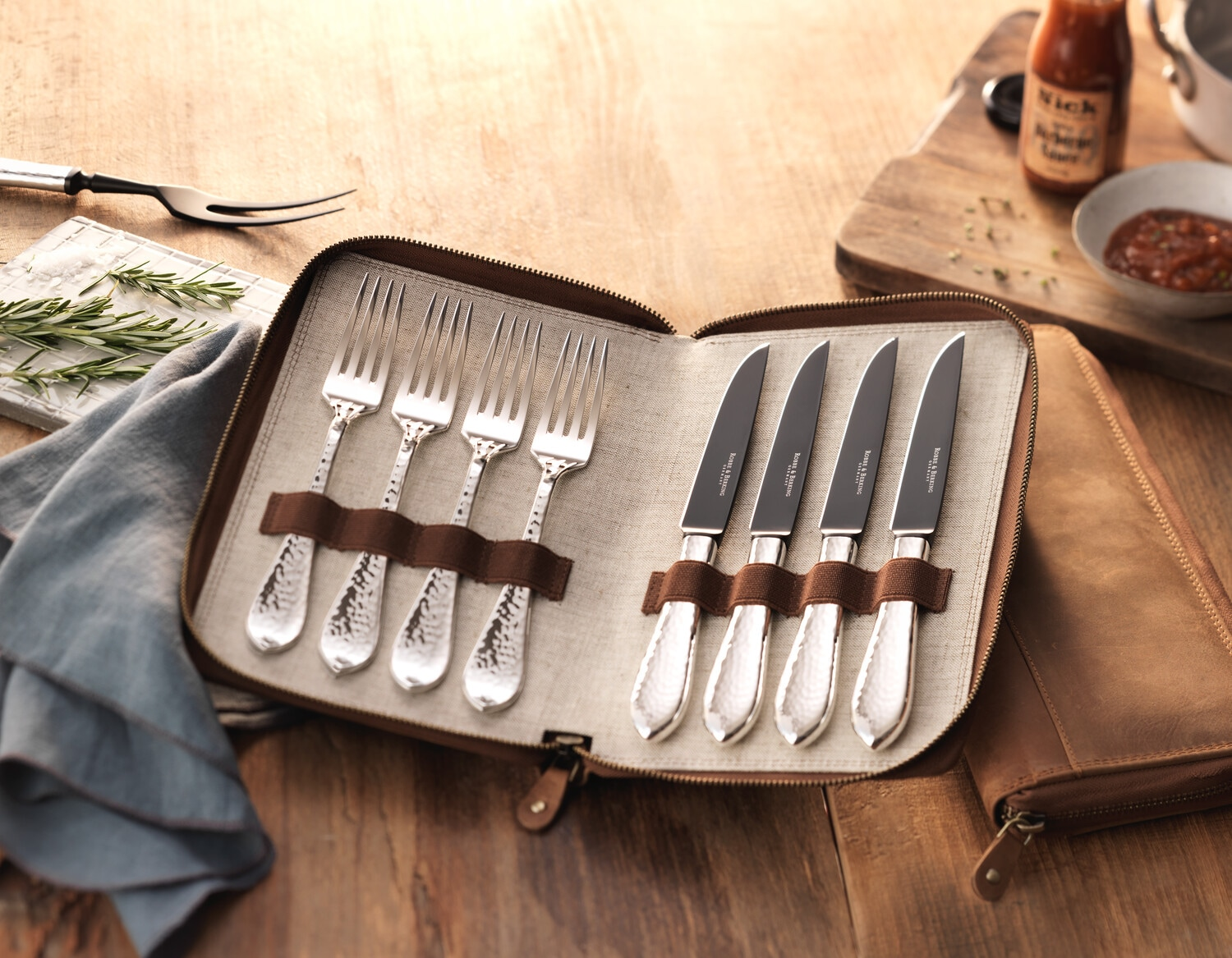 The designs are hand-engraved and the now German brand offers bespoke services to families and individuals wanting to engrave their names on the cutlery.