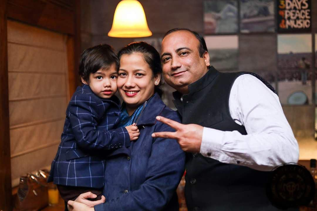 Moushumi with her husband Amit and son Lakshraaj