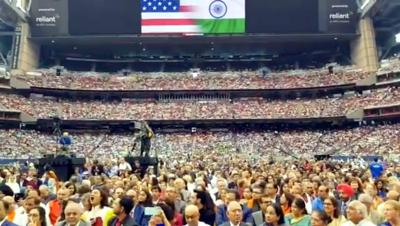 Houston: People during the 'Howdy Modi' event at NRG Stadium in Houston, USA, on Sep 22, 2019. (Photo: IANS/MEA)