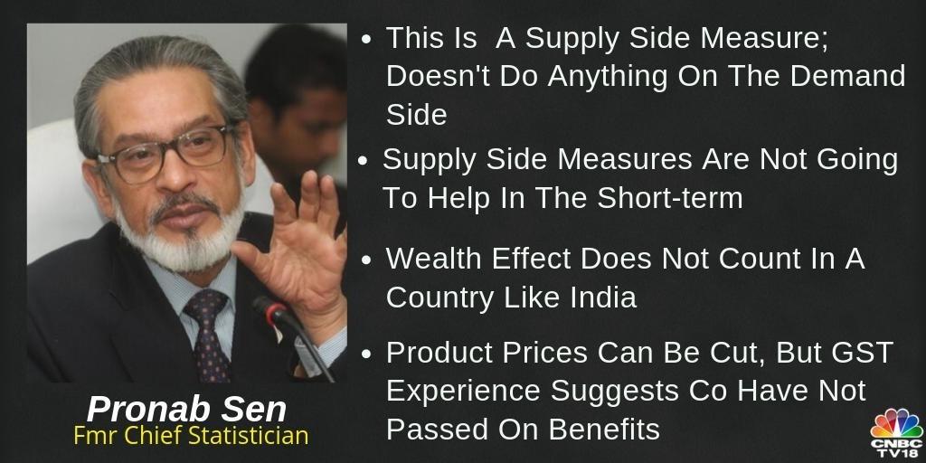 Pronab Sen, former chief statistician