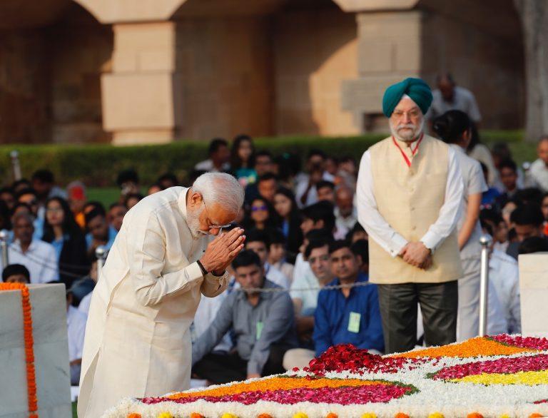 Leaders pay homage to Mahatma Gandhi on his 150th birth anniversary