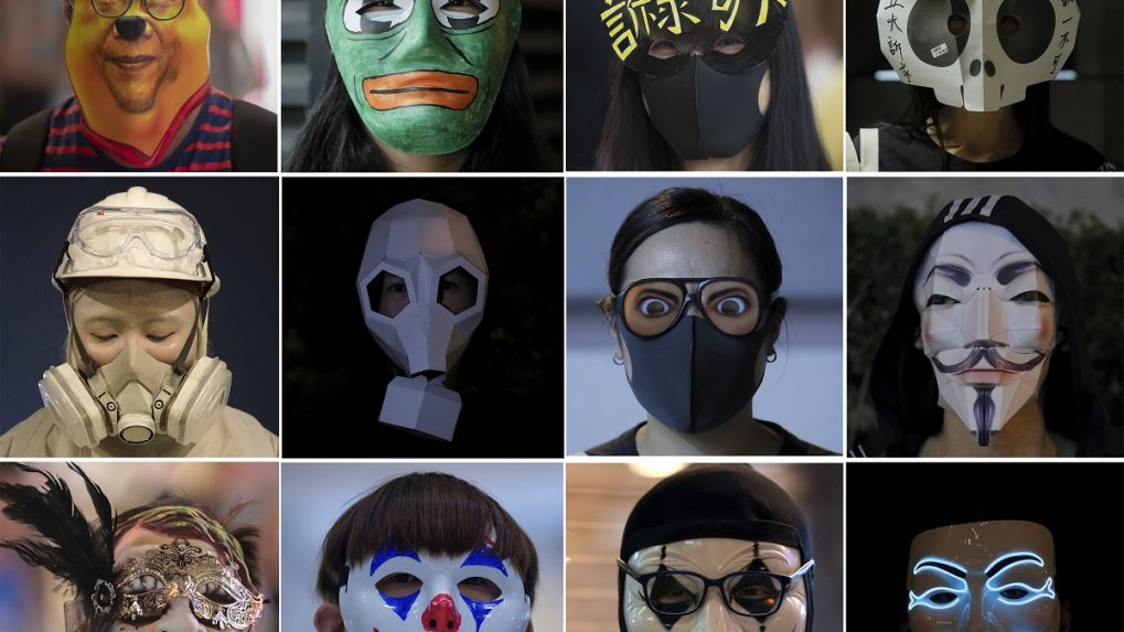 In Pictures: Hong Kongers use masquerade as new protest tactic
