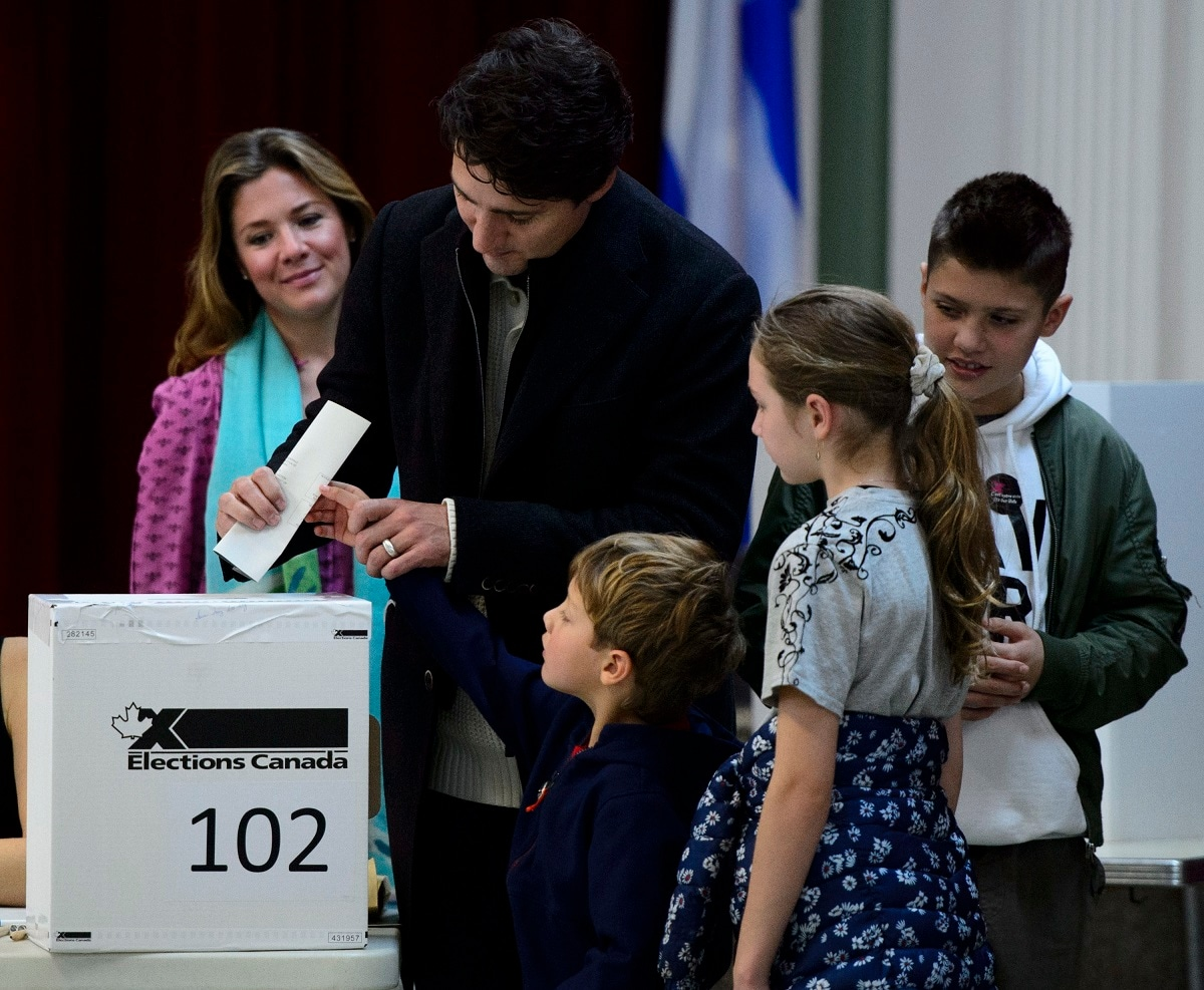 Trudeau faced the threat of being knocked from power after one term as Canada held parliamentary elections on Monday. Trudeau, son of the liberal icon and late Prime Minister Pierre Trudeau, is one of the few remaining progressive world leaders in the Trump era. (Sean Kilpatrick/The Canadian Press via AP)
