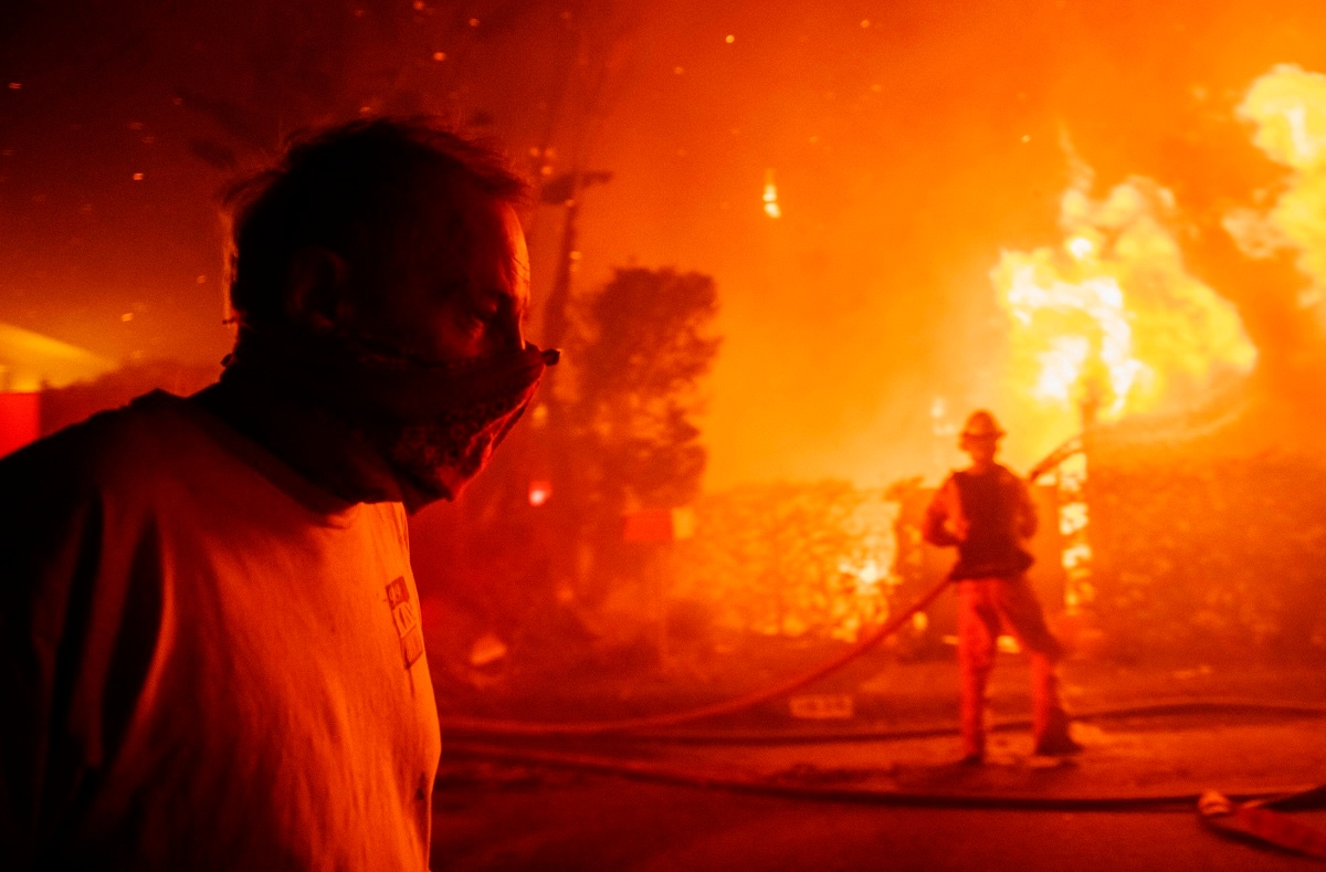 Pacific Gas & Electric acknowledge Monday that despite the outages, its power lines may have started two smaller fires over the weekend in the San Francisco Bay Area. It has also said its transmission lines may have been responsible for the Sonoma County fire. (AP Photo/ Christian Monterrosa)