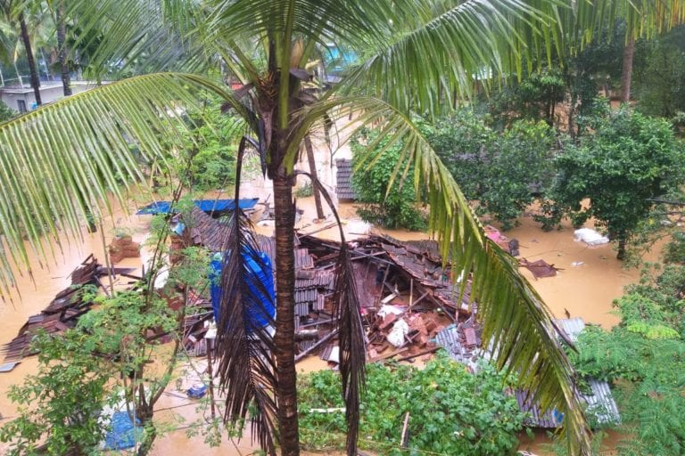 A house destroyed completely in the 2019 floods. Photo by Arun Nilambur.