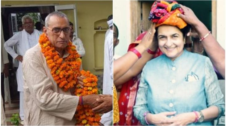 Rabindra Mahendra and Kiran Chaudhary: The son and the daughter-in-law of former Congress chief minister Bansi Lal have also been given party tickets. Ranbir Mahindra contesting from the Badhra seat in Haryana and Kiran Chaudhary from the Tosham seat. (Image: Social Media)