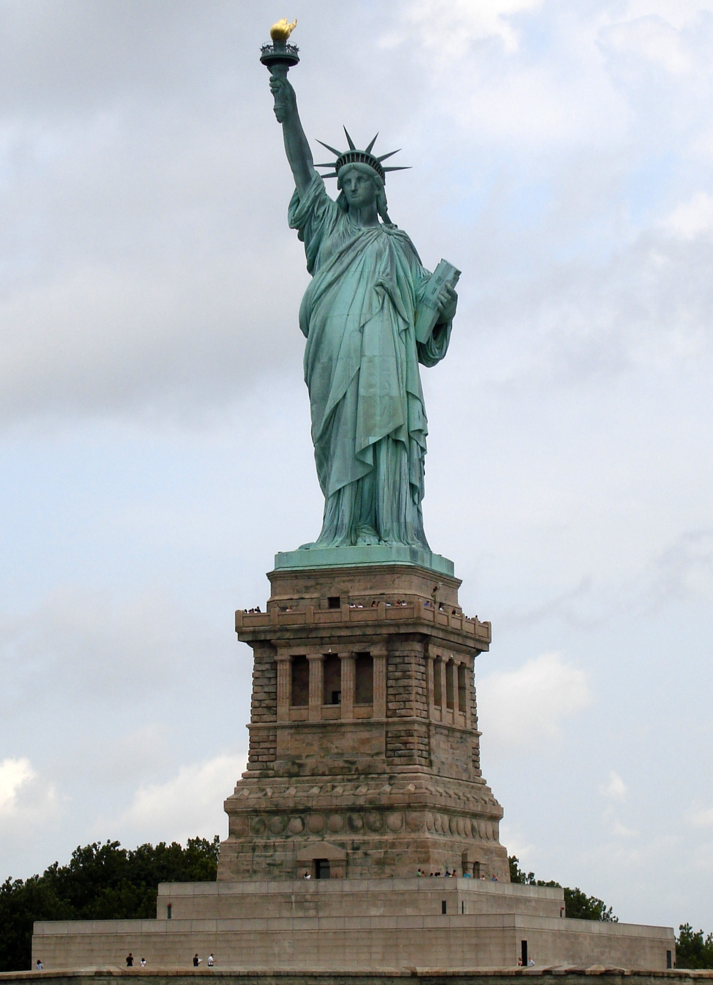 Statue of Liberty, US: The statue is the fourth tallest statue in the world, with a height of 93 metres.   Wikipedia