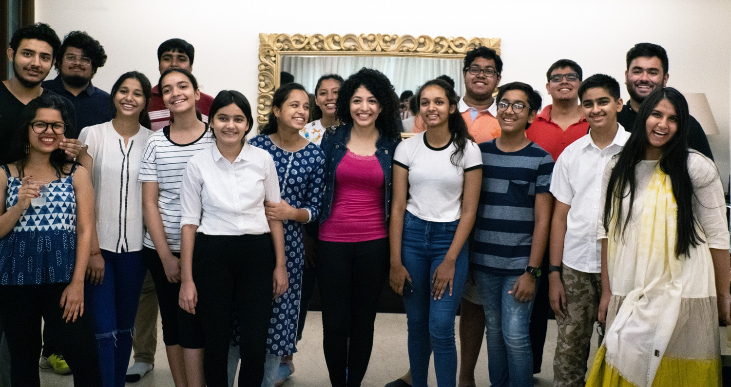 Vidisha conducted a session at eShe's Shine Your Light for teens