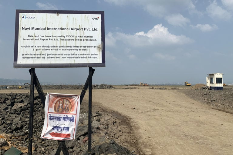 About 3,500 families are expected to be impacted by the project. While some of them have taken the compensation offered by the project developer, some have refused to vacate citing inadequate compensation. Photo by Nikhil Dixit.