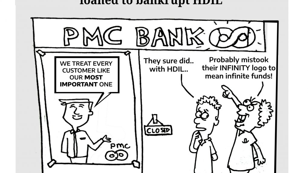 PMC Bank sinks as note reveals two-thirds of capital loaned to bankrupt HDIL