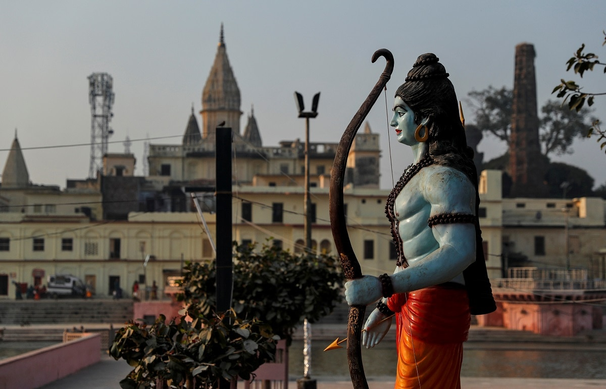 A statue of Hindu Lord Ram is seen after Supreme Court's verdict in Ayodhya. (REUTERS/Danish Siddiqui)