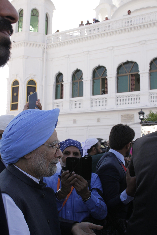 Former Prime Minister Manmohan Singh during his visit to Kartarpur.