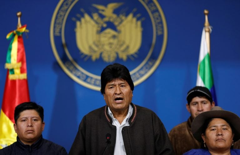 Bolivia President Evo Morales resigns after protests over disputed October vote