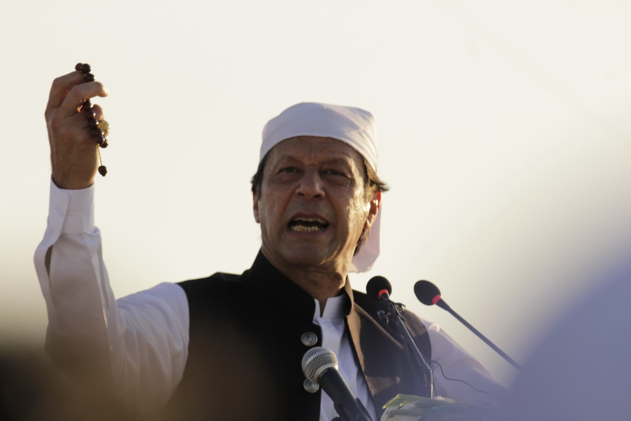 Pakistan Prime Minister Imran Khan during his speech at the inauguration.