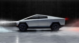 Cybertruck is built with an exterior shell made for ultimate durability and passenger protection. Starting with a nearly impenetrable exoskeleton, every component is designed for superior strength and endurance, from Ultra-Hard 30X Cold-Rolled stainless-steel structural skin to Tesla armor glass.