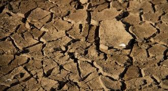 FILE PHOTO: A view shows dried cracked up soil on the edge of the Lake Wegnia, in Sahel region of Koulikoro, Mali November 23, 2019. REUTERS/Arouna Sissoko