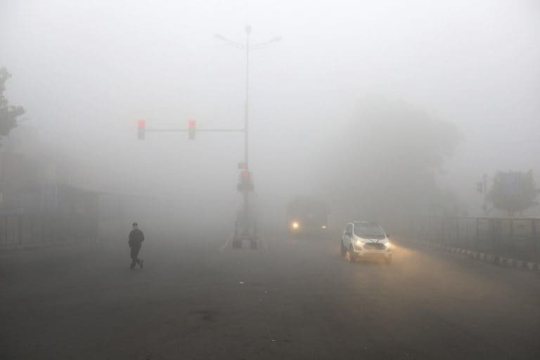 Zero visibility in parts of Delhi due to very dense fog