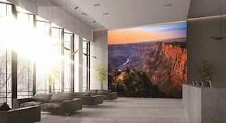 The Wall is pegged as an 'ultra-luxury' viewing experience, this product comes with a 0.8mm pixel pitch technology. Compared to a regular LED, a microLED offers a clearer display, better contrast and is more energy-efficient. The LED display comes with Quantum HDR technology, peak brightness of 2,000 nits and 120Hz video-rate aimed at providing a superior visual experience.
