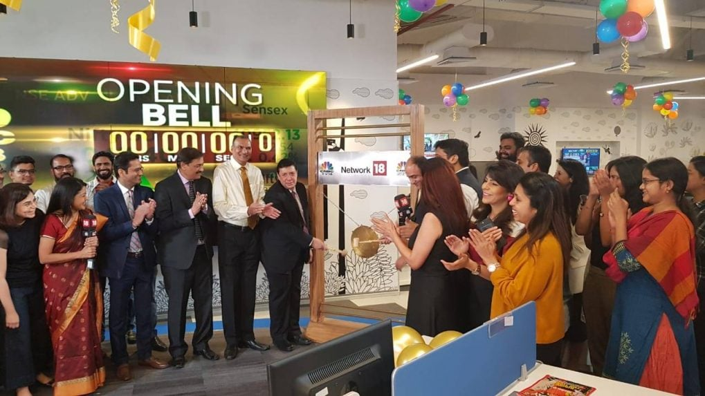 CNBC-TV18 marks 20 years as India's top business news channel