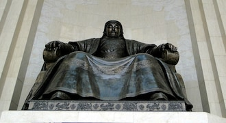 Genghis Khan | (1162-1227 AD) | Country: Mongolian Empire | The Great Khan of the Mongol Empire, known in the public eye as a vicious Mongol marauder, is also one of the most successful leaders of all time. His empire stretched from Europe to China at its peak. Being at the helm of historically the largest empire in terms of land holding, it is difficult to put a figure to Genghis Khan's wealth. But, he was surely one of the wealthiest people known to man. He built a tomb for himself, nor a mosque or statue in his name, and died in a hut similar to the one he was born in. (Wikimedia Commons)