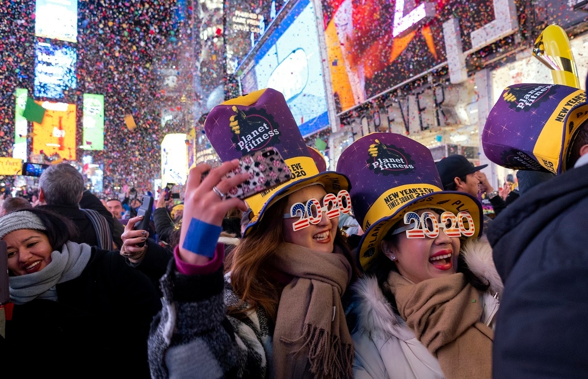 Kisses, Cheers, Fireworks Welcome 2020 In Times Square