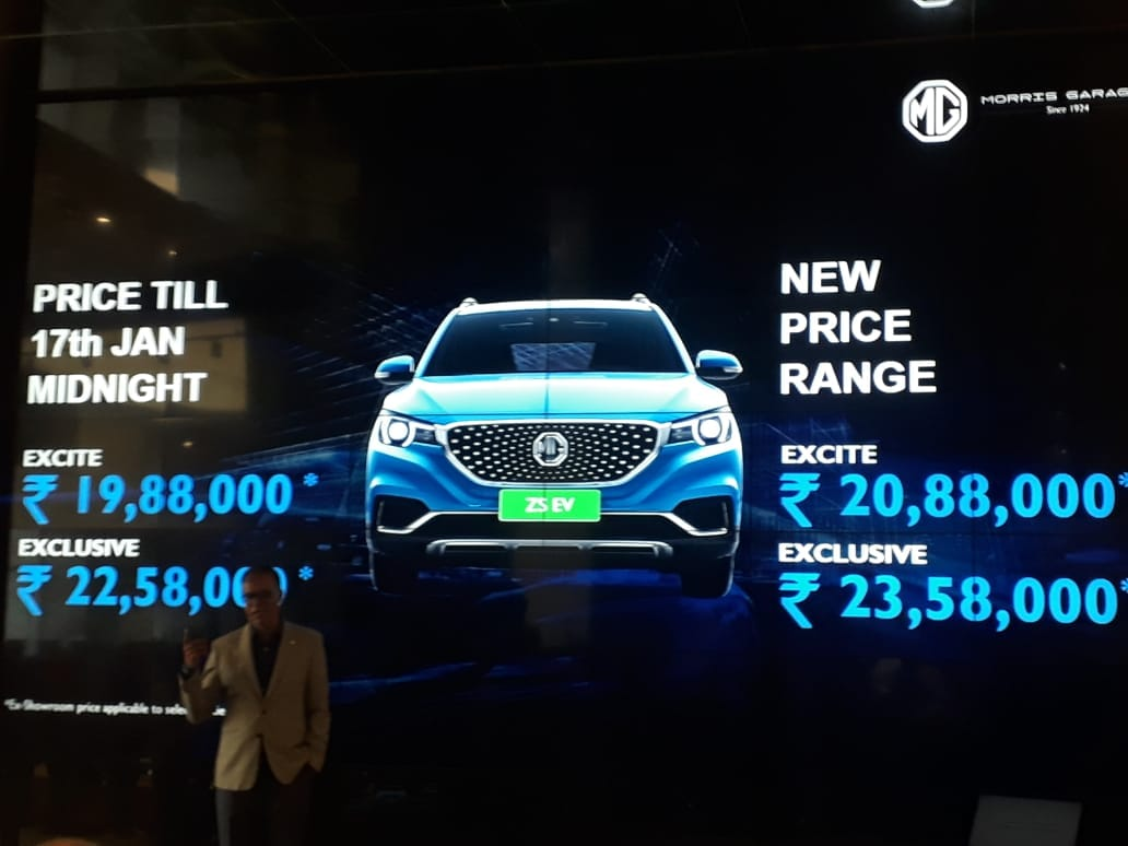 MG Motor ZS EV India launch price