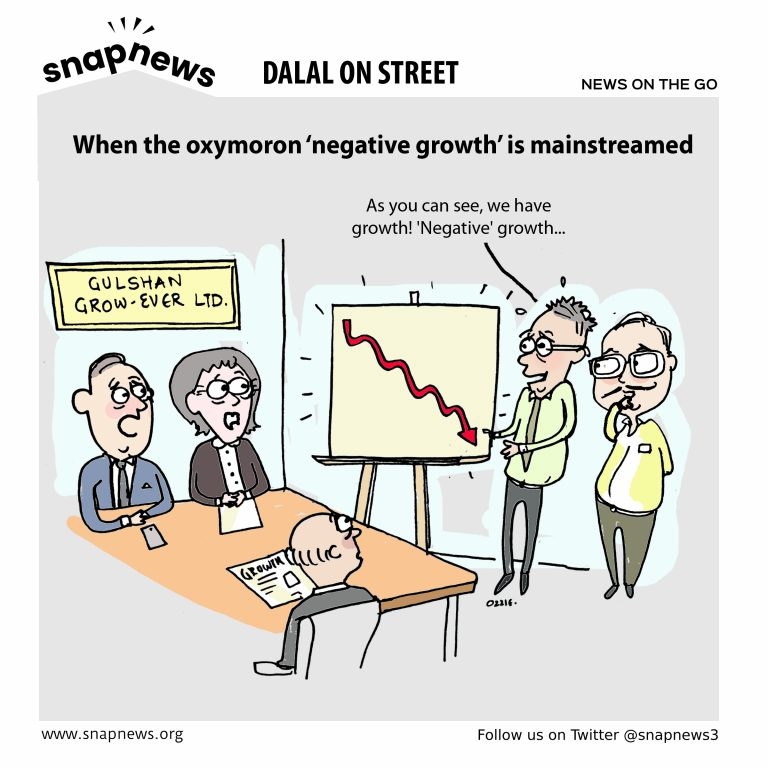 When the oxymoron 'negative growth' is mainstreamed