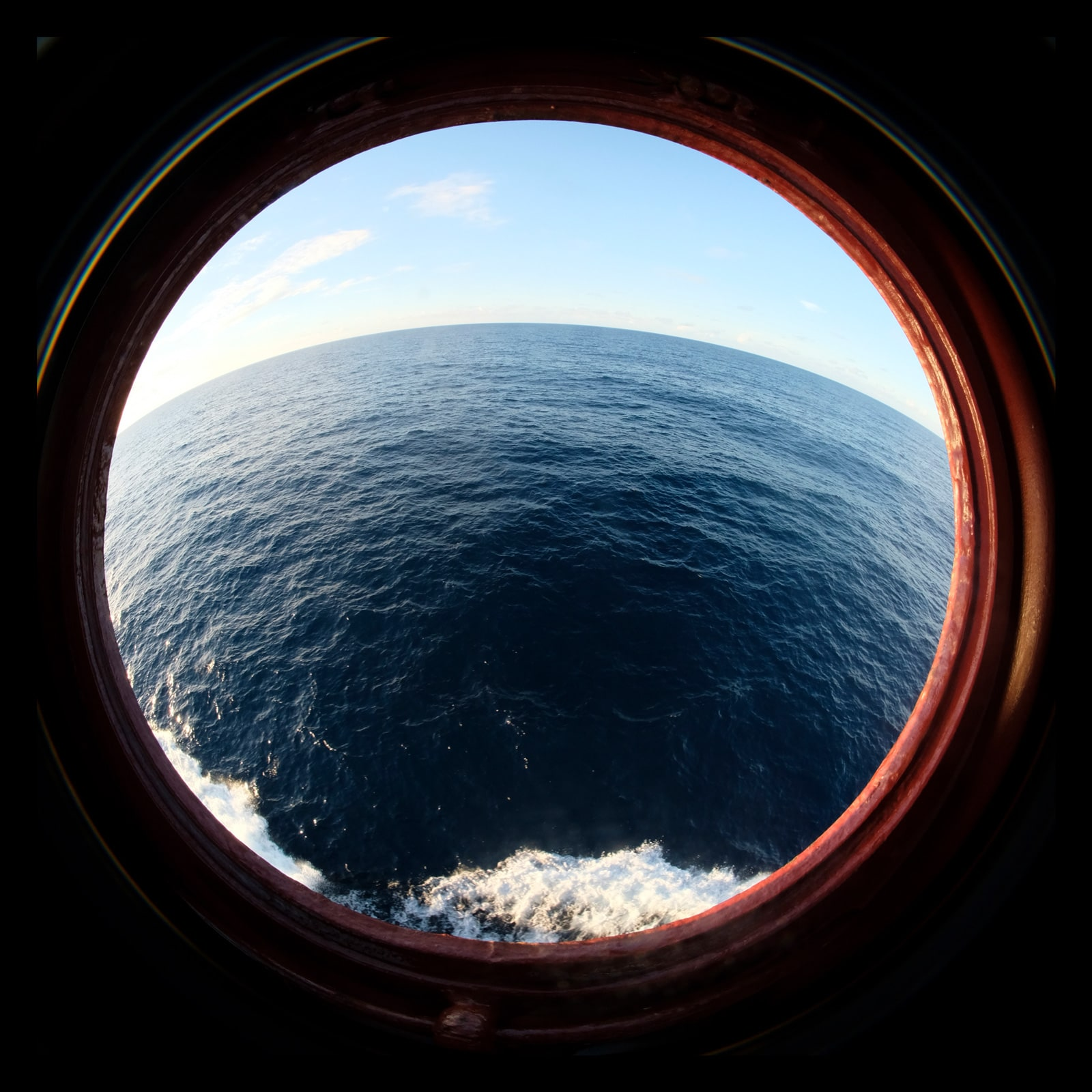 The Pacific Ocean at a depth of 4,500 metre.