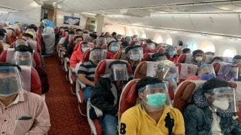Government mandates safety kits for air passengers; makes middle seat seating stricter
