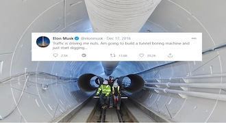 Joke or real? It sometimes becomes difficult tell whether Elon Musk is joking, such as when he said he was so fed up of Los Angeles traffic and would start digging a tunnel. He then started The Boring Company to do exactly that. Or when his company would start selling flamethrowers, and it did.