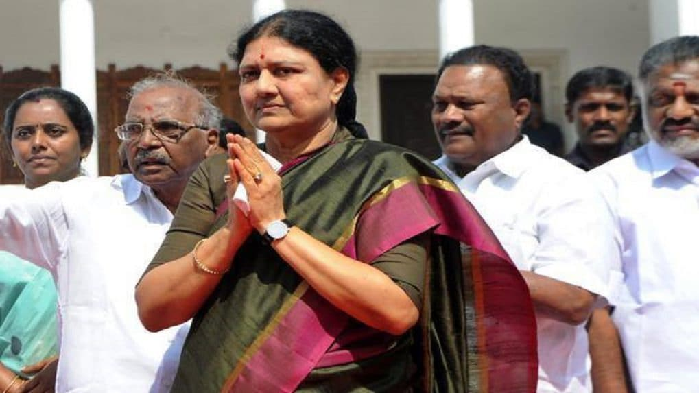 VK Sasikala returns to TN after four years to grand reception