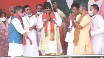 Actor Mithun Chakraborty joins BJP at PM Modi's mega rally in Kolkata
