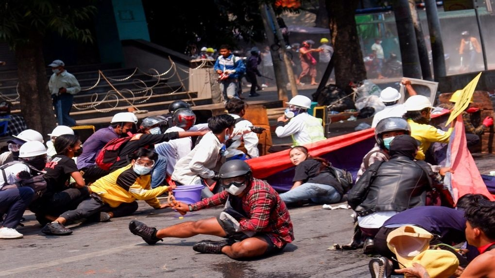 Myanmar police break up protests again after bloodiest day since coup
