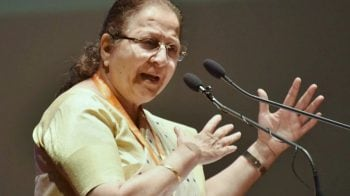 Shashi Tharoor tweets former speaker Sumitra Mahajan passes away; BJP says she's 'hail and hearty'