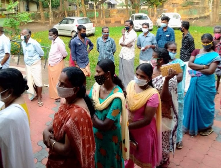 In pic: Polling commences in Assam, Bengal, Kerala, Tamil Nadu & Puducherry
