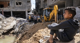 Gaza reconstruction clouded by dispute over Israelis held by Hamas