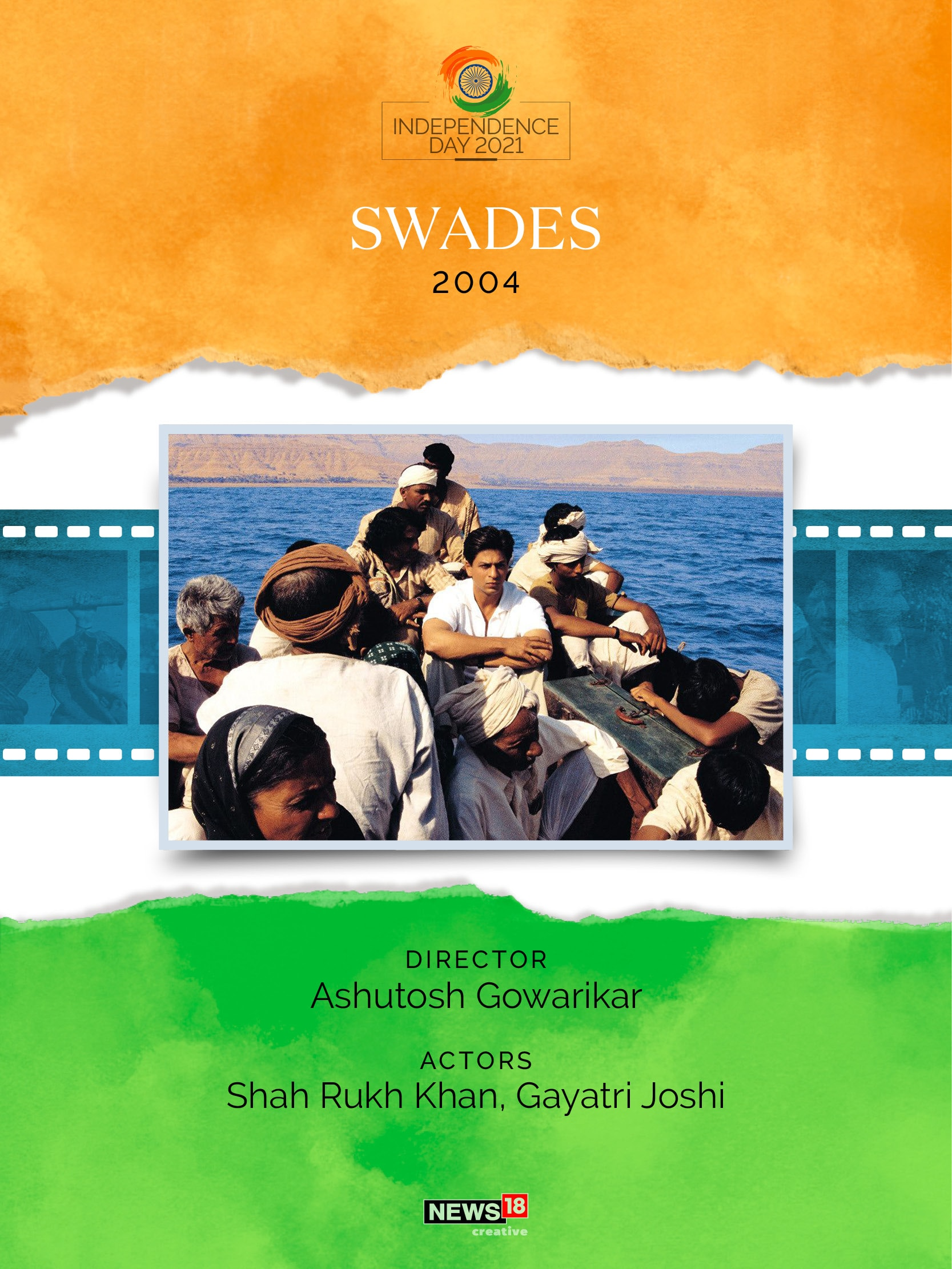 Swades movie 2004, bollywood, india independence day news, india news, independence day news, bollywood movies independence day, independence day movies, india patriotic films list, list of bollywood movies on independence day of india, shah rukh khan news